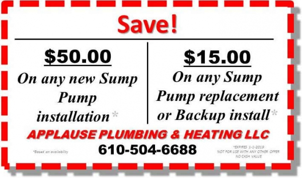 Save $50 on Sump or $15 on Replacement